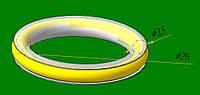 Бесшумная встака  для металлического кольца -25мм