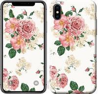 """Чехол на iPhone X цветочные обои v1 """"2293c-1050-3309"""""""