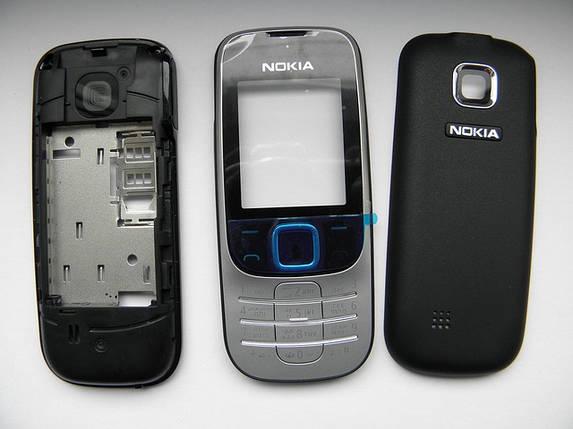 Корпус для Nokia 2330 чёрный с клавиатурой AAA, фото 2