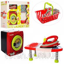 Дитячий ігровий набір побутової техніки. Праска, пральна машинка та прасувальна дошка XS-14035