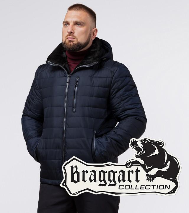 Braggart Status 17WM20 | Зимняя куртка с меховым воротником темно-синяя