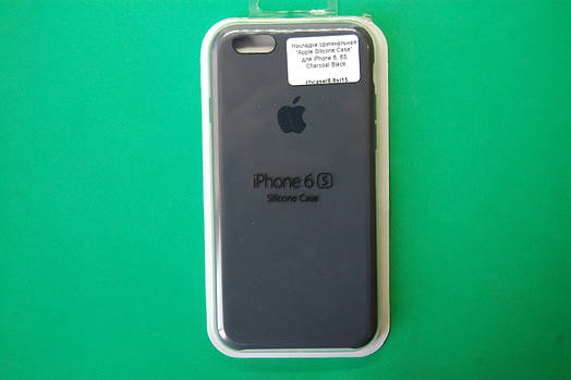 """""""Apple Silicone Case"""" для iPhone 6 / 6S Charcoal Black"""