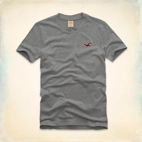 Мужская футболка Hollister серая
