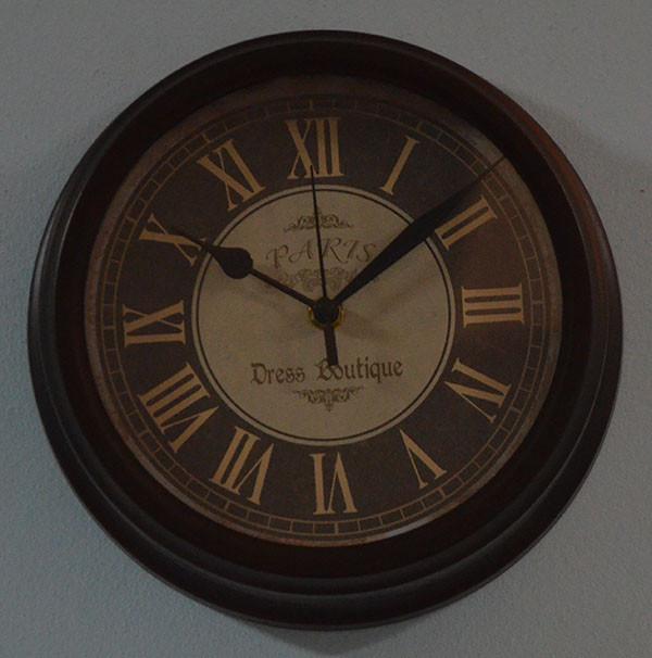 """Настенные часы """"Paris"""", металл (23х7,5 см.)"""