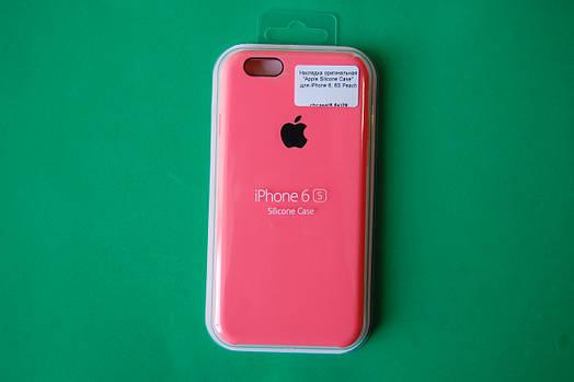 """Apple Silicone Case"" для iPhone 6 / 6S Peach"