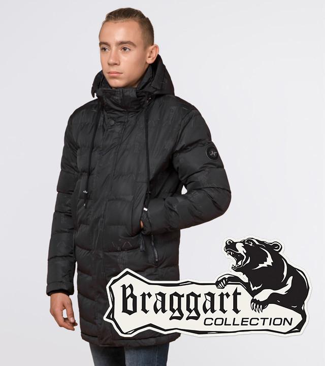 13-25 років | Молодіжна зимова куртка Braggart Youth 25300 сіра