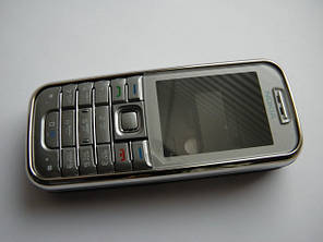 Корпус Nokia 6233 серый с клавиатурой class AAA, фото 2