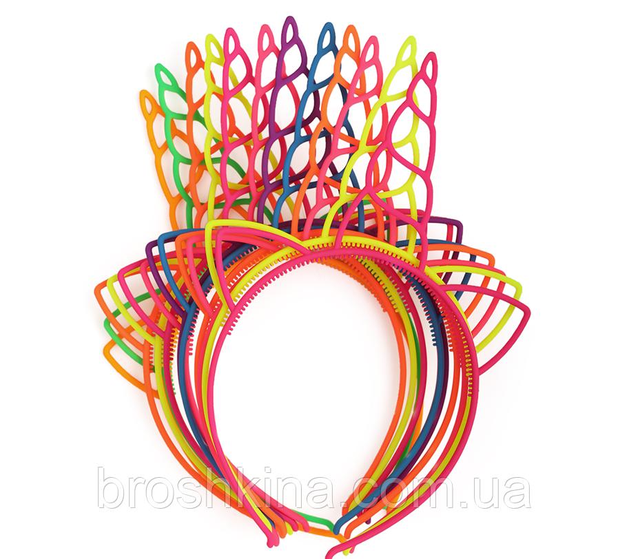 Обручі для волосся Єдинороги каучук кольорові 12 шт/уп