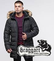 13-25 лет   Зимняя молодежная куртка Braggart Youth 25330 черная, фото 1