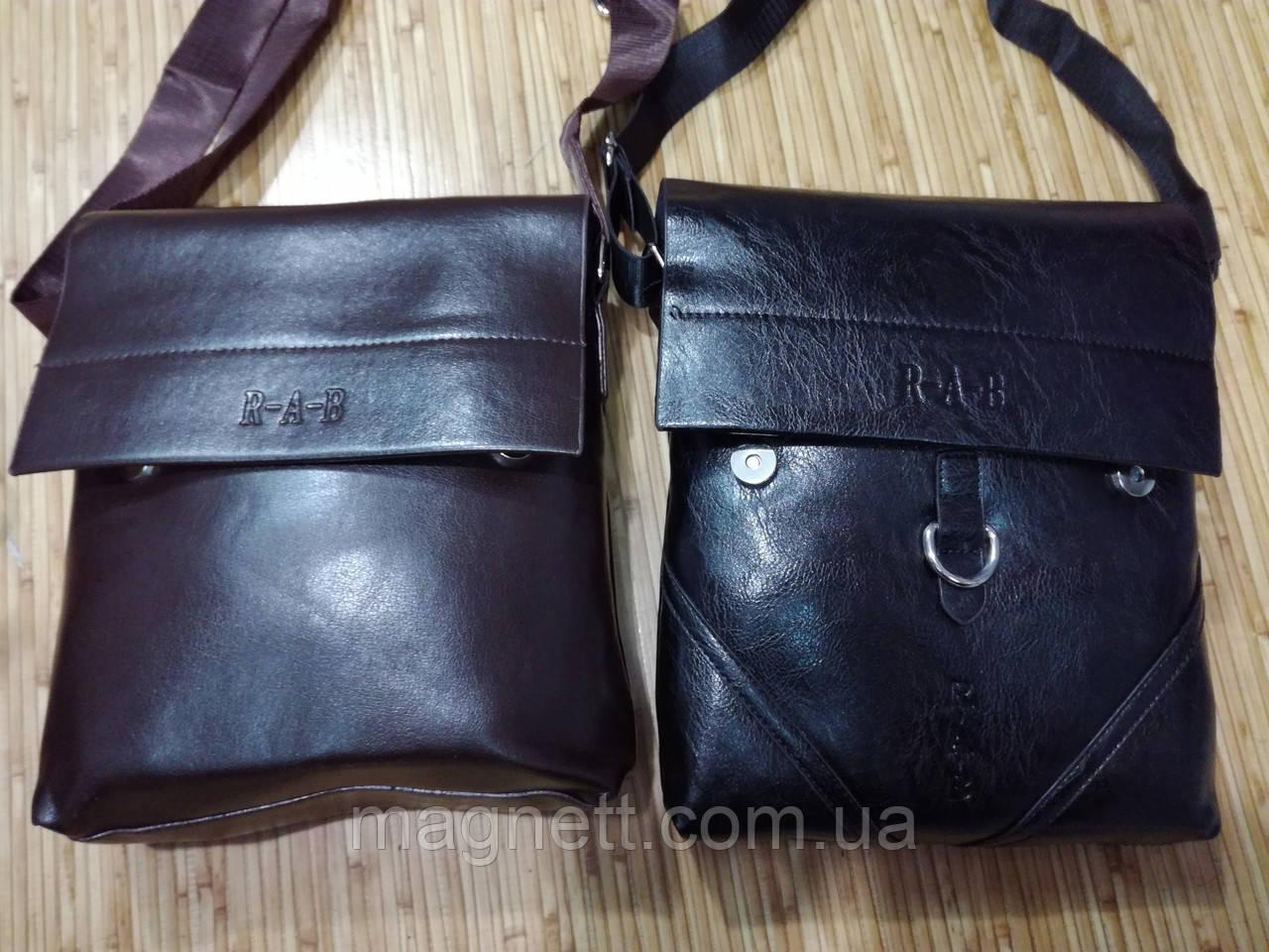 Мужская сумка через плече из экокожи 24x22см