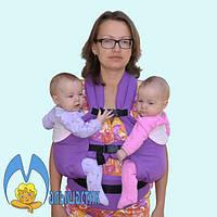 Эргономичный рюкзак для двойни (расцветки в ассортименте) оптом, фото 1