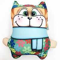 Подушка антистресс Кот цветочный