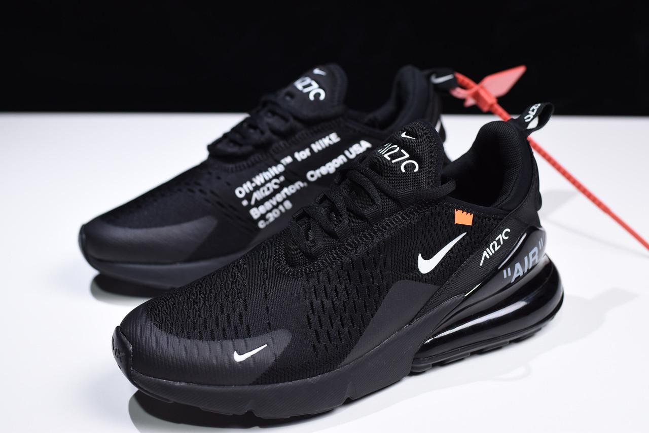 814b1027 Мужские кроссовки в стиле Virgil Abloh Off-White x Nike Air Max 270 Black -