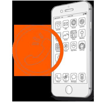 Замена слухового, верхнего динамика на iPhone 6