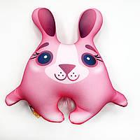 Подушка антистресс Зайчик розовый маленький