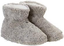Тапочки домашние женские сапожки угги пушистые мягкие серые флис махровые Rebelle S1182-403-6