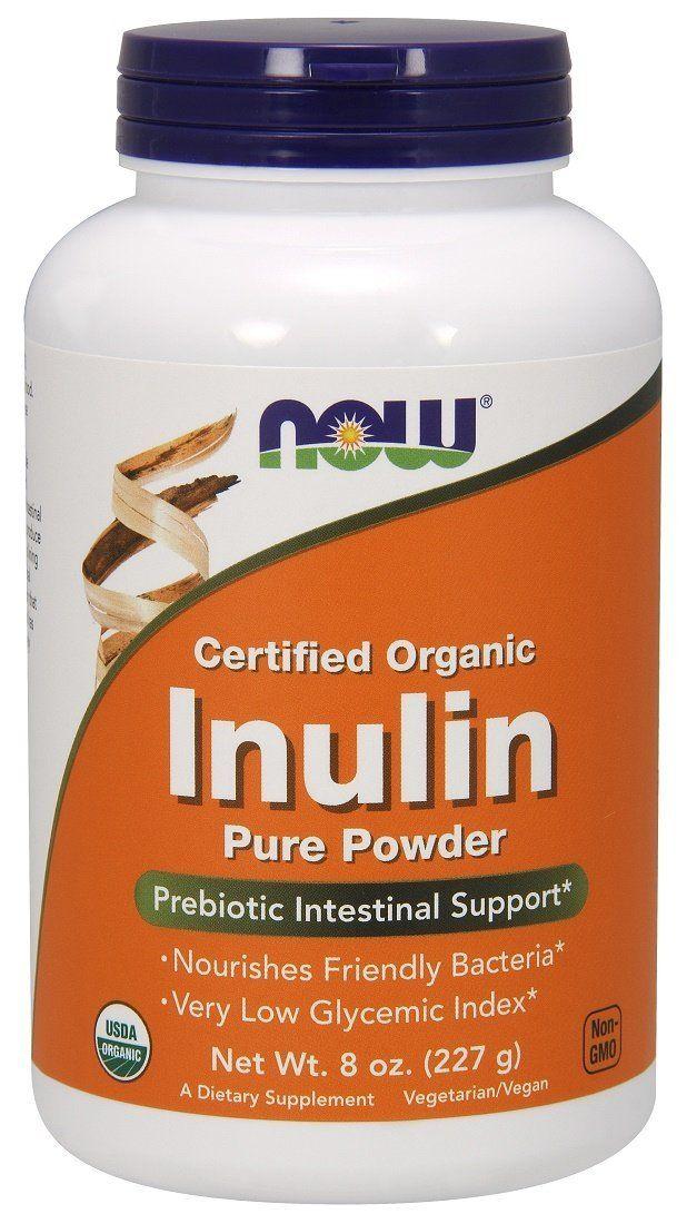 Інулін в порошку, Now Foods, Inulin powder, 227 грам