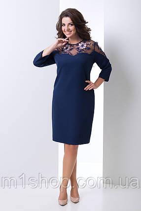 Женское платье с сеткой на груди больших размеров (Леонора lzn), фото 2