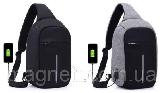 Рюкзак антивор однолямочный bobby mini сумка через плечо бабанка с USB