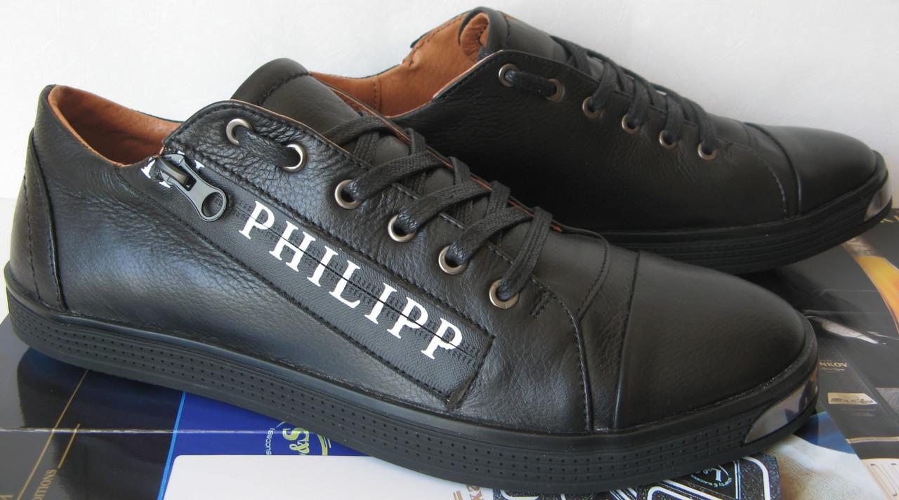 38722210149a6 Philipp Plein мужские туфли кеды слипоны кожа в стиле Филипп Плэйн обувь