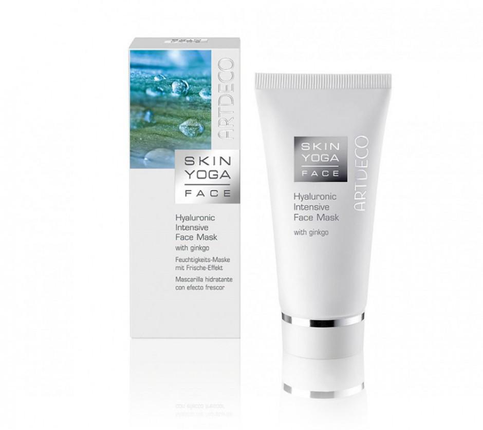 Увлажняющая маска с освежающим эффектом для всех типов кожи Artdeco hyaluronic intensiv face mask with gincgo