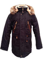 Куртка зимняя с капюшоном на мальчика парка 5661, фото 1