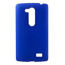 Чехол накладка пластик Rubberized для L Fino Dual D295 синий