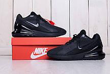 Кроссовки мужские Nike Air Max 270 черные топ реплика, фото 2