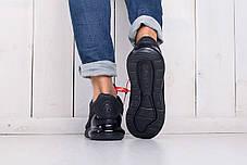 Кроссовки мужские Nike Air Max 270 черные топ реплика, фото 3
