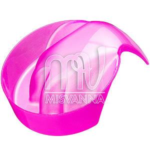 Ванночка для маникюра круглая, розовые блестки