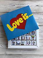 Шоколадний подарунковий набір LOVE IS... 100г, фото 1