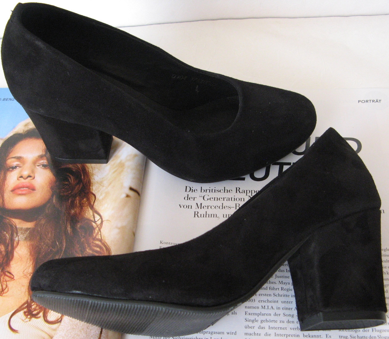 Nona! женские качественные классические туфли замшевые черные 40 41 42 43  взуття на каблуке 7 2d98c899d2601