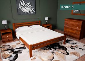 """Кровать """"Роял 3"""" из натурального дерева (сосна, ольха)"""