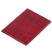 Кожаная обложка на паспорт красная Eminsa 1523-4-5, фото 1