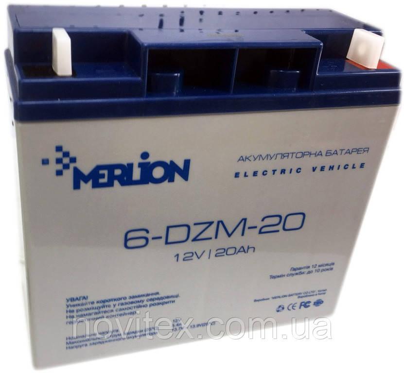 Merlion 6-DZM-20 12v 20ah, тяговый