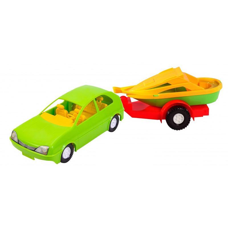 Машинка с прицепом Wader 39002 (Y)