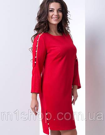 eff43c7a Женское платье с жемчугом на рукавах больших размеров (Танзана lzn ) , фото