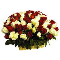 Корзина 101 роза микс