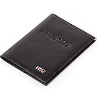 Кожаная обложка на паспорт черная Butun 147-024-001, фото 1