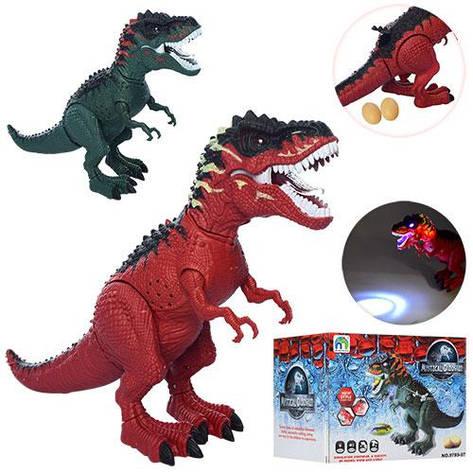 Динозавр 9789-97 (42шт) 45см,несет яйца(2шт), ездит,проектор,зв,св,2цв,на бат,в коробке,41-13,5-12,5см, фото 2