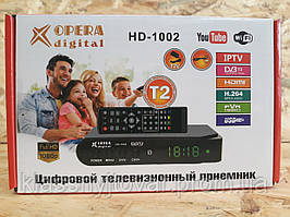 Цифровой Тюнер Т2 OPERA DIGITAL HD-1002 DVB-T2!Опт