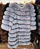 Женская шуба из пепельного песца   купить онлайн в ЛЕАШОП, фото 3