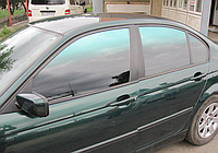 Пленка для тонировки переходная зелёно-черная Green-Gradation