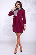 Женское платье с клетчатыми вставками (Флорида lzn), фото 3