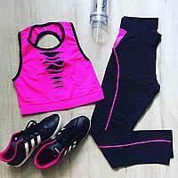 Малиновый костюм для фитнеса зала и йоги, фото 1