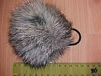 Меховой помпон из кролика ( 8см) Натуральный серый