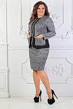 """Ангоровый женский костюм в клетку """"TIROLL"""" с жакетом (большие размеры), фото 3"""