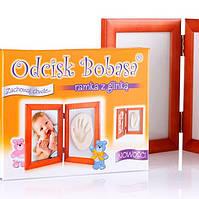 Рамочка с гипсом для слепка ножки или ручки малыша Odcisk bobasa, фото 1