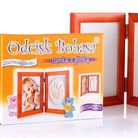 Рамочка с гипсом для слепка ножки или ручки малыша Odcisk bobasa