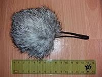 Меховой помпон из кролика ( 7см) Натуральный св.серый